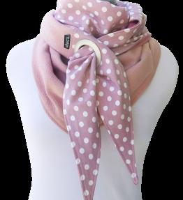 Purjerengashuivi polka dots roosa