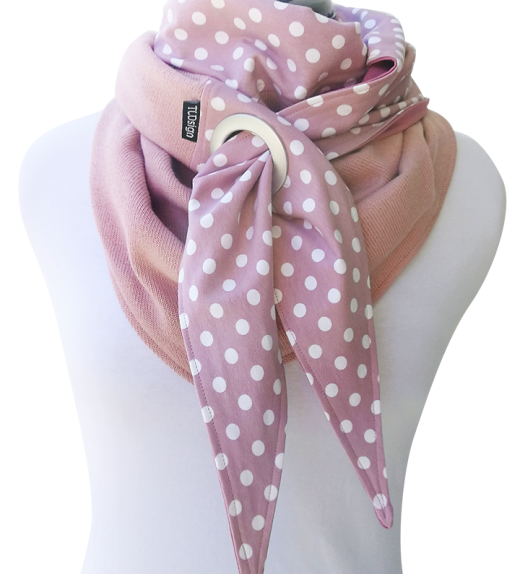Purjerengahuivi-polkadots-roosa-puuvillaneulos