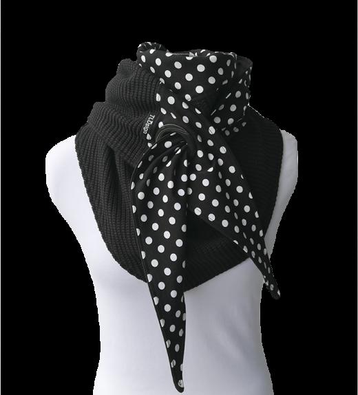 Purjerengashuivi-polka-dots-musta-Big- knit-neulos
