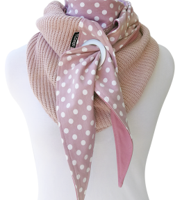 Purjerengashuivi Polka dots roosa. Big knit.