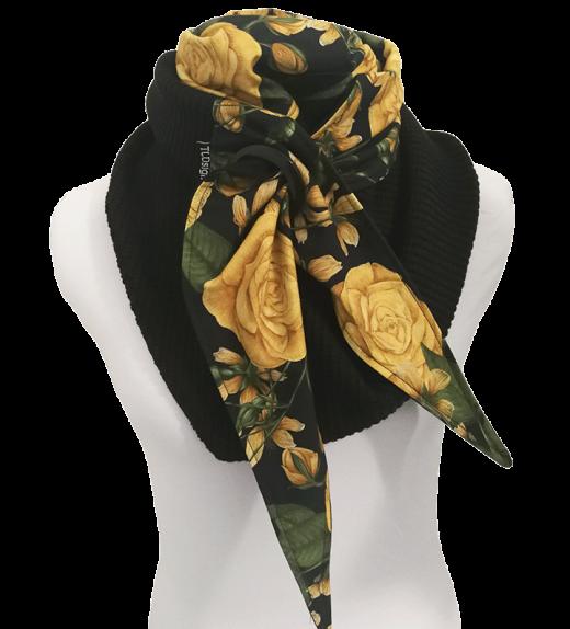 Purjerengashuivi-ruusupiirros-musta-okra-big-knit