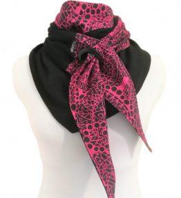 Purjerengashuivi bohemian lace pinkki-musta