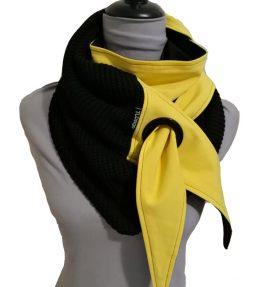 Purjerengashuivi kelta-musta. big knit.