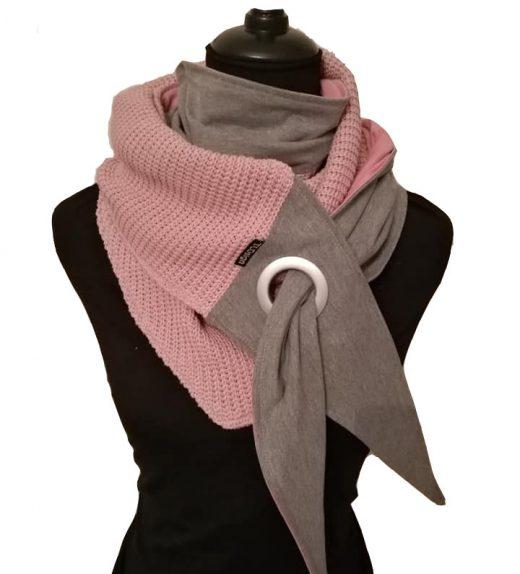 roosa-harmaa big knit