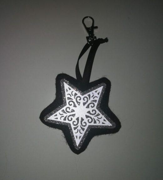 tähti musta-hopea heijastava
