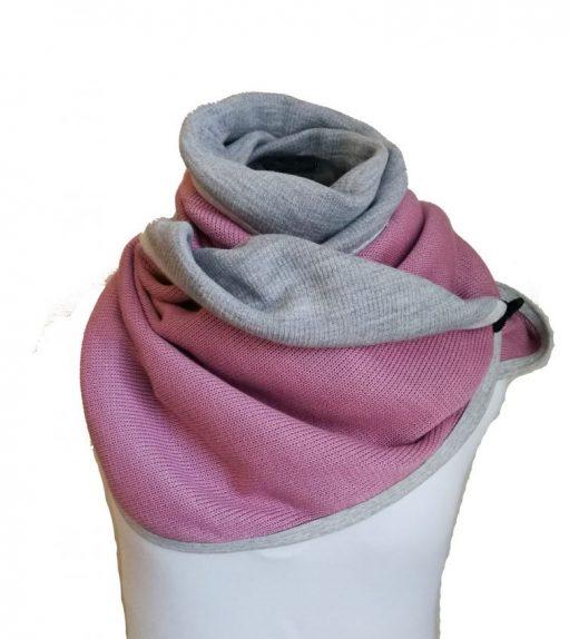 huivi roosa-harmaa