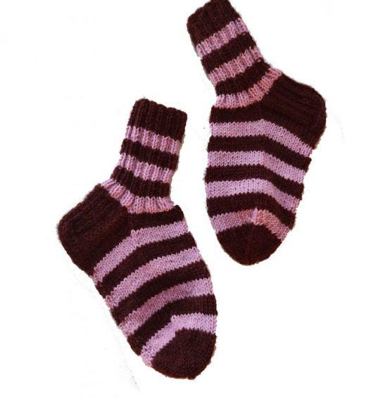 ruskea vaaleanpunaraita sukat