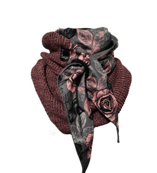 big knit ruusut marsala