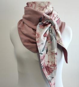 Purjerengashuivi watercolor peonies roosa-harmaa