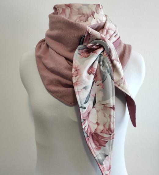 watercolor peonies harmaa-roosa